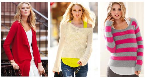 Женственные свитера