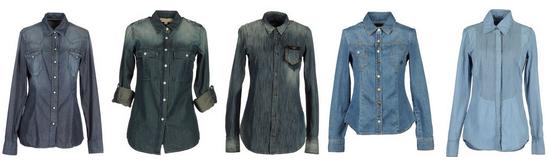 Классические джинсовые рубашки
