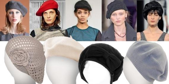 Модные береты 2013