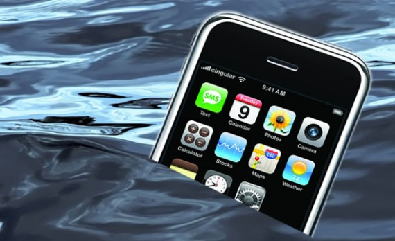 Утонул айфон