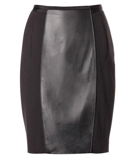 Кожаные юбки комбинированные