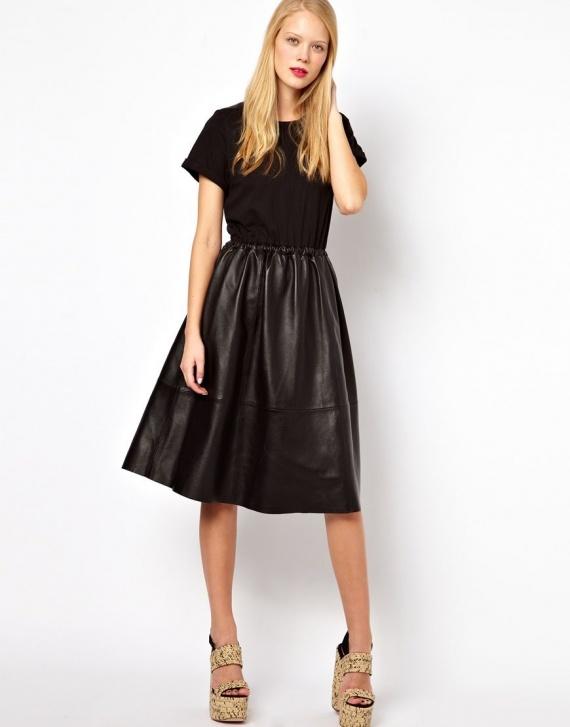 21d495c6af3 кожаная юбка купить
