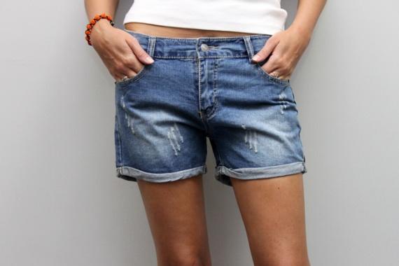Как из джинс сделать шорты с отворотами