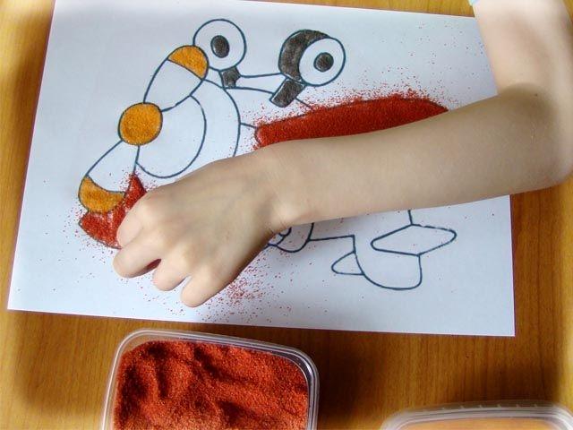 Как сделать картины из песка своими руками