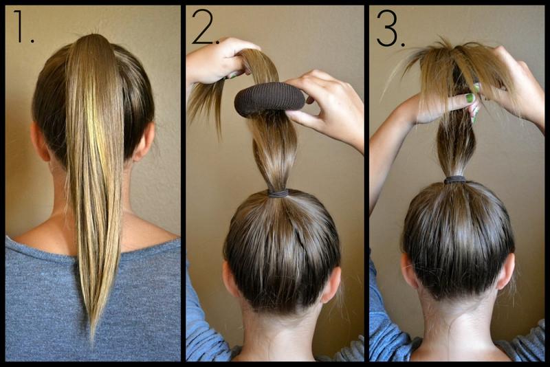 Пучок из волос своими руками фото