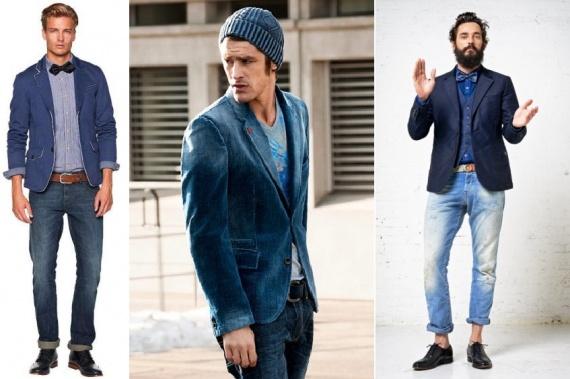 С чем носят синий пиджак