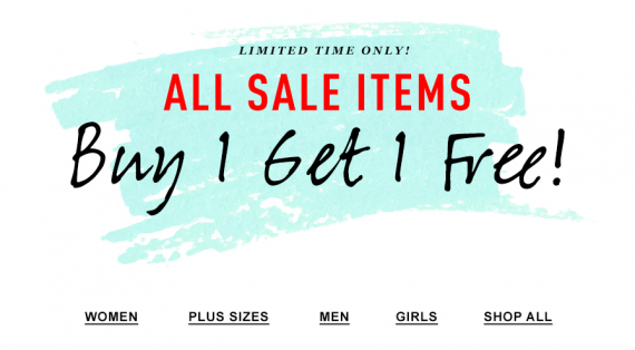 Forever21: BUY ONE, GET ONE FREE! Forever21: BUY ONE