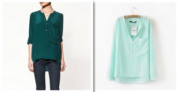 блузка мятного цвета купить