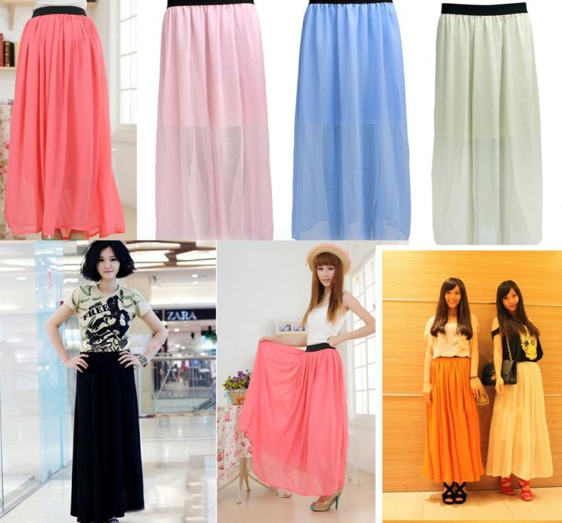 Удлинённые юбки для девочек