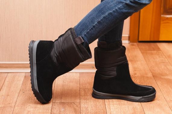 Зимние женские сапожки дутики Women's Commuter Pull-on Boot с сайта Lands'end 200-gram insulation