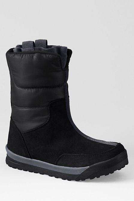 Зимние женские сапожки дутики Women's Commuter Pull-on Boot с сайта Lands'end сапоги Lands'end