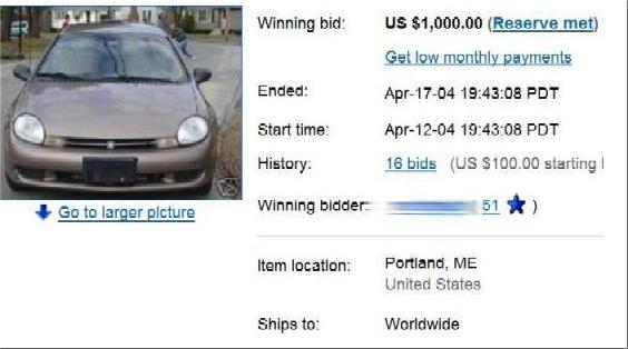 Как купить машину на eBay как купить машину на eBay