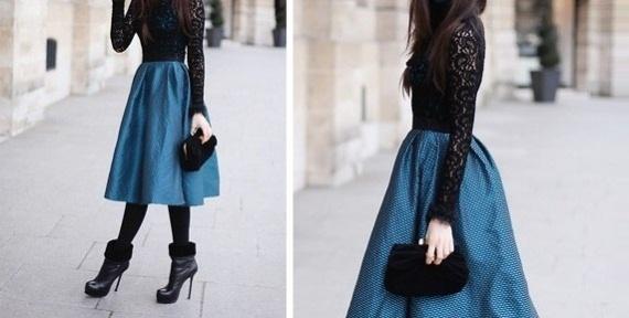 Пышные юбки по щиколотку