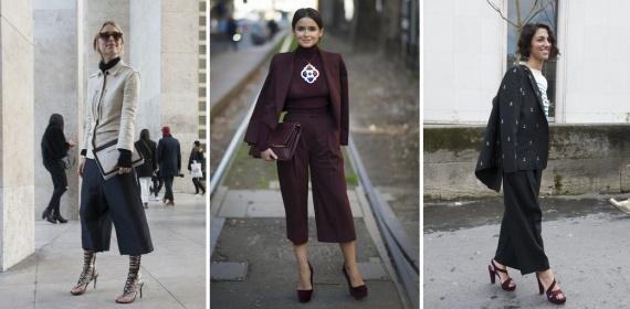 Весенние бриджи-юбка 2014 – модный must have нового сезона широкие бриджи-юбка