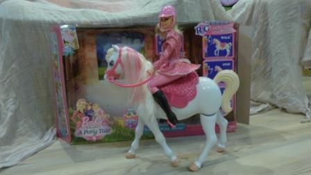 Прекрасная пара от Mattel. Белый конь и принцесса амазон