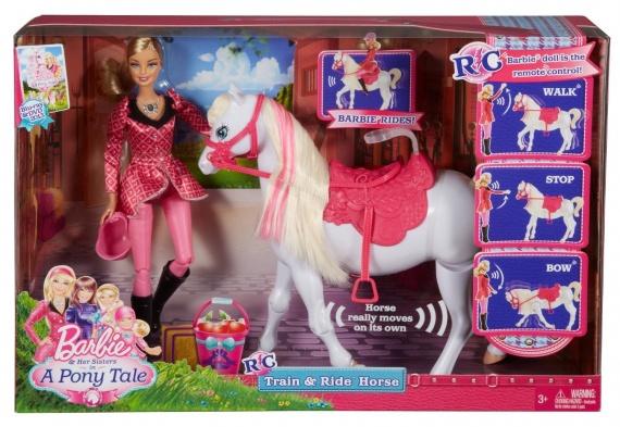 Прекрасная пара от Mattel. Белый конь и принцесса лошадки