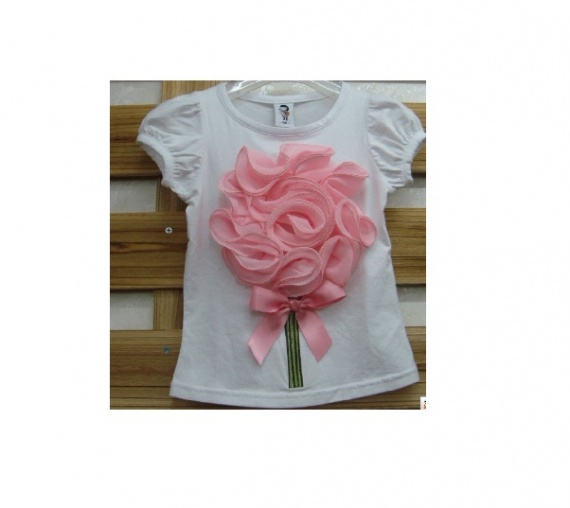 Детские футболки с 3Д цветком и лосины с юбкой лосины с юбкой