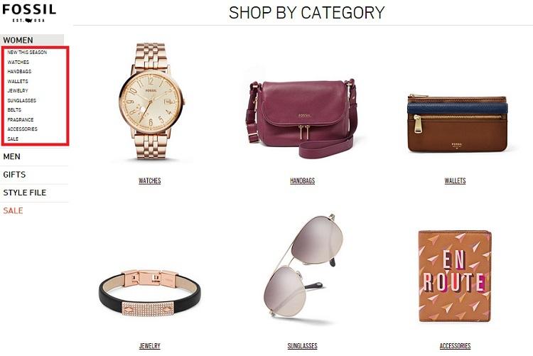 Как покупать в магазине Fossil.com Fossil.com