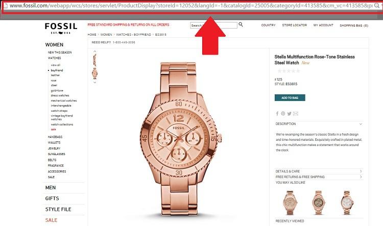 Как покупать в магазине Fossil.com аксессуары