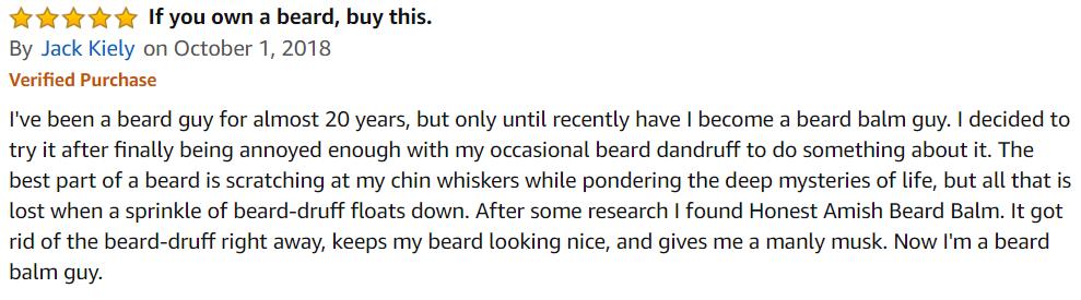 отзыв на бальзам для бороды на amazon