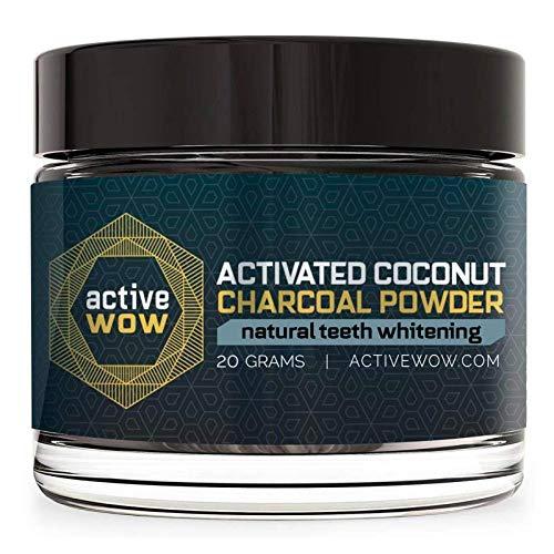 отбеливающий зубной порошок с кокосовым углем Active Wow на amazon